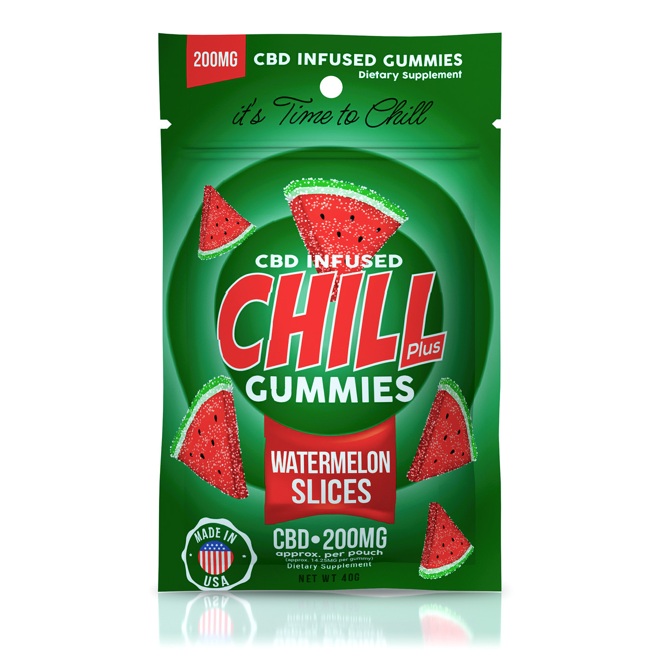 CHILL GUMMIES - CBD INFUSED WATERMELON SLICES - 200MG